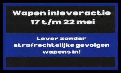 Wapeninleveractie Drop-it, lever je slag-, steek- of stootwapens in bij bureau Noordwijk.