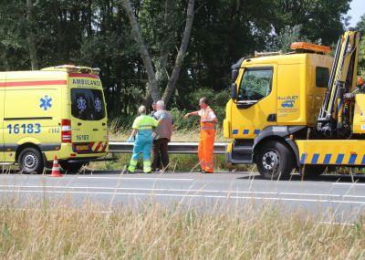 Ongeval met vrachtwagen en bestelbus op de N206