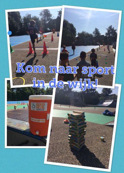 Sport- en spelactiviteiten in de wijk met de Buurtsportcoach!