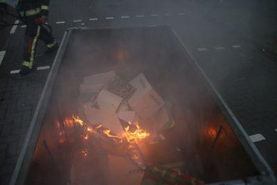 Containerbrand op de Duinwetering in Noordwijk
