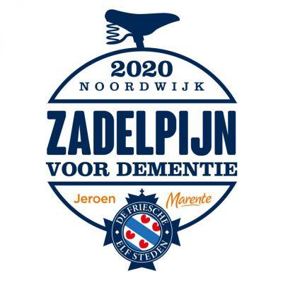 'Zadelpijn voor Dementie' is gestart in Leeuwarden voor de Elfstedentocht op de fiets.